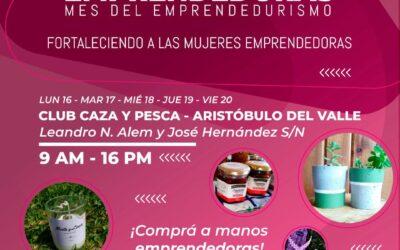 Aristóbulo del Valle | Capacitaciones y Feria de Mujeres Emprendedoras durante el mes del Emprendedurismo